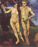 Suzanne Valadon Adam and Eve oil painting reproduction