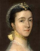 Detail of Portrait of Sarah,Mrs Tobias Rustat