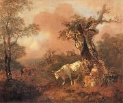 Landscape with a Woodcutter cowrting a Milkmaid