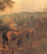 Detail of Landscape with a Woodcutter courting a Milkmaid