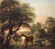 Landscap with Peasant and Horses