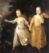 Thomas Gainsborough The Painter-s Daughters chasing a Butterfly