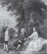 Jonathan Tyers with his daughter and son-in-law,Elizabeth and John Wood