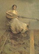 Girl with Lute
