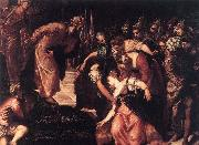 Tintoretto Esther before Ahasuerus oil painting reproduction