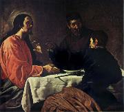VELAZQUEZ, Diego Rodriguez de Silva y The Supper at Emmaus oil painting reproduction