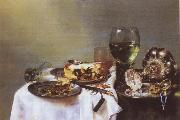 Willem Claesz Heda Breakfast Talbe with Blackberry Pie
