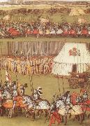 Cavalry and pikemen assembled at Therouanne in 1513 for the meeting between Henry VIII and the Emperor Maximilian I