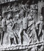 Caught Women and Children, relief at the Pillar of Marcus Aurelius. Rome