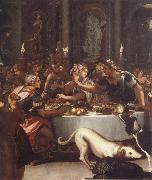 ALLORI Alessandro The banquet of the Kleopatra oil painting reproduction