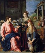 ALLORI Alessandro Museum art historic Christ with Maria and Marta oil painting reproduction