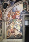 Agnolo Bronzino Mose strikes water out of the rock fresco in the chapel of the Eleonora of Toledo oil painting reproduction