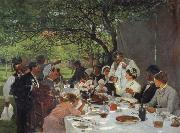 Albert Auguste Fourie The wedding meal in Yport oil painting reproduction