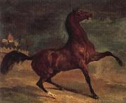 Alfred Dehodencq Horse in a landscape oil painting reproduction