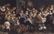 Bartholomeus van der Helst Celebration zun peace of Munster in the general quarters of the St. Jorisdoele oil painting reproduction
