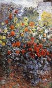 Claude Monet Detail from Monet-s Garden in Argenteuil oil painting reproduction