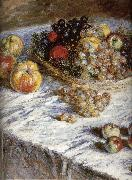 Claude Monet Pears and grapes oil painting reproduction