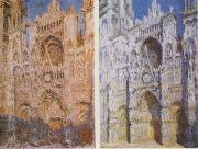 Claude Monet The West Doorway and the Cathedral of Rouen oil painting reproduction