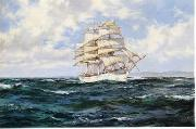 Dennis Miller Bunker Seascape, boats, ships and warships. 09 oil painting