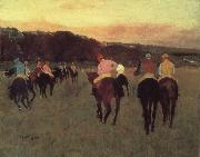 Edgar Degas Race horses in Longchamp oil painting reproduction