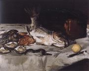 Edouard Manet Style life with carp and oysters oil painting on canvas