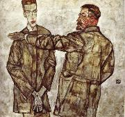 Egon Schiele Double Portrait oil painting reproduction