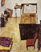 Egon Schiele Schiele-s Room in Neulengbach oil painting reproduction