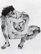 Egon Schiele Crouching figure oil painting reproduction