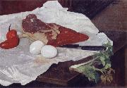 Still life with Meat and eggs