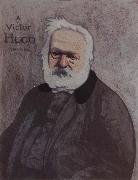 Portrait decoratif of Victor Hugo