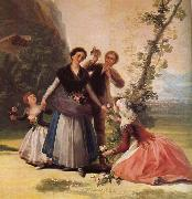 Francisco de Goya Blomsterforsaljerskan,omkring oil painting artist