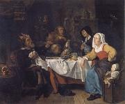 Gabriel Metsu The bean festival oil painting reproduction