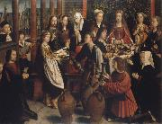 Gerard David The wedding to canons oil painting reproduction