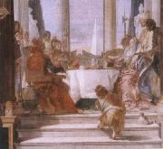 Giambattista Tiepolo The banquet of the Klleopatra oil painting reproduction
