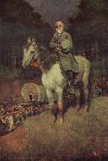 Howard Pyle General lee on his Famous appointment oil painting