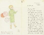 Balloons to sell Illustrated letter to Arthur Gaskin