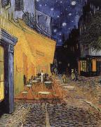 cafe terrace at the Place you forum in Arles in night