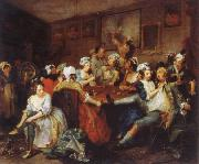 William Hogarth The Rake-s Progress the orgy oil painting artist