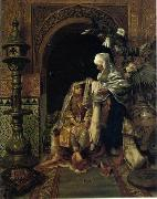 Arab or Arabic people and life. Orientalism oil paintings  405