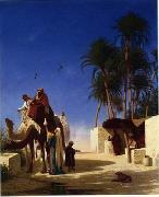 Arab or Arabic people and life. Orientalism oil paintings  411