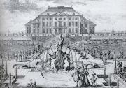 One of a series of eight etchings of Het Loo