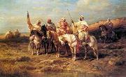 Arab or Arabic people and life. Orientalism oil paintings  355