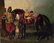 Arab or Arabic people and life. Orientalism oil paintings  429