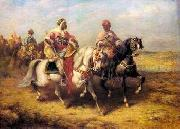 Arab or Arabic people and life. Orientalism oil paintings  354