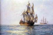 unknow artist Seascape, boats, ships and warships.90