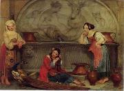 Arab or Arabic people and life. Orientalism oil paintings  408