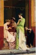 Arab or Arabic people and life. Orientalism oil paintings  375