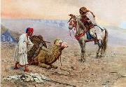 Arab or Arabic people and life. Orientalism oil paintings  402