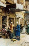 Arab or Arabic people and life. Orientalism oil paintings  378
