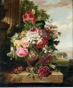 unknow artist Floral, beautiful classical still life of flowers.137